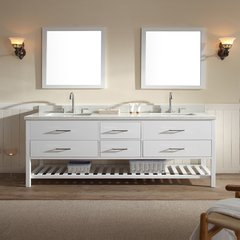 "73"" Shakespeare Single Sink Bathroom Vanity - White"
