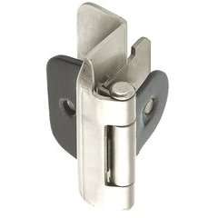 Double Demountable 1/2 inch Overlay Hinge Satin Nickel- Pair