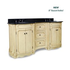 "74-1/4"" Tesla Double Sink Vanity - Buttercream"