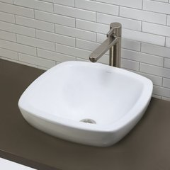 "DECOLAV Amalie 17-1/2"" x 17-1/2"" Semi-Recessed Vessel Sink"