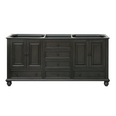 "72"" Thompson Cabinet Only w/o Top - Charcoal Glaze"