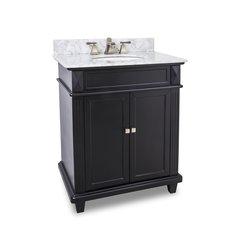 "30"" Douglas Single Sink Bathroom Vanity - Black"