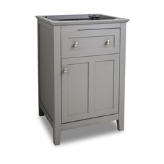"24"" Chatham Shaker Single Cabinet Only w/o Top - Gray"