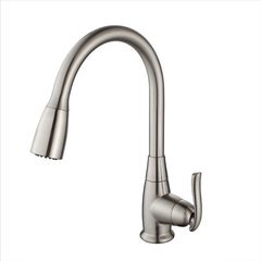High Arch One Handle Pull-Out Kitchen Faucet Satin Nickel