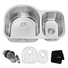 "30"" Undermount Double Bowl Kitchen Sink-Stainless Steel"