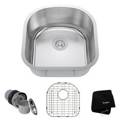 "20"" Undermount Single Bowl Kitchen Sink-Stainless Steel"