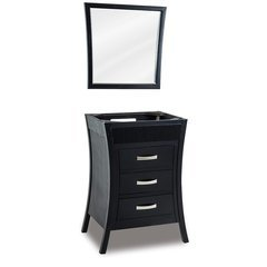26 Inch Barcelona Single Cabinet Only Without Top - Black