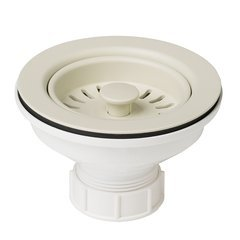 ABS Plastic Kitchen Sink Strainer-Beige