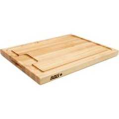 24 Inch x 18 Inch x 1-1/2 Inch Cutting Board With Sloped Juice Groove - Northern Hard Rock Maple