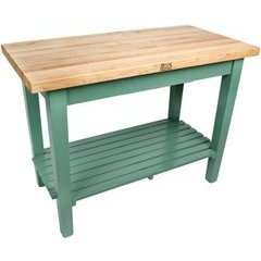 48 Inch x 24 Inch x 35 Inch Kitchen Work Table With Shelf - Natural
