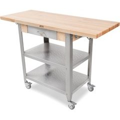 50-3/4 Inch x 20 Inch x 34-3/4 Inch (Fully extended) Kitchen Cart - Northern Hard Rock Maple