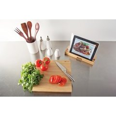 12 Inch x 12 Inch x 1-1/2 Inch Cutting Board and Device Stand - Northern Hard Rock Maple