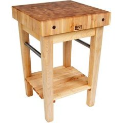 24 Inch x 24 Inch x 36 Inch Kitchen Cart - Northern Hard Rock Maple