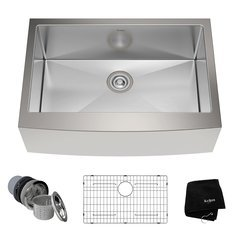 "30"" Farmhouse Single Bowl Kitchen Sink-Stainless Steel"