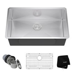 "30"" Undermount Single Bowl Kitchen Sink-Stainless Steel"
