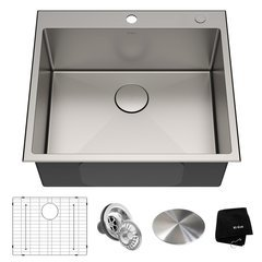 Standart PRO 25 Inch Length 22 Inch Width Rectangular Kitchen Sink - Satin