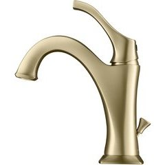 Arlo Basin Bathroom Faucet with Lift Rod Drain - Brushed Gold