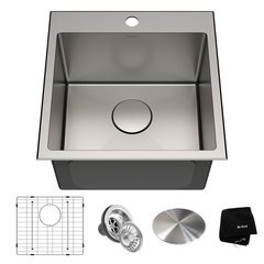 Standart PRO 18 Inch Length 18 Inch Width Square Kitchen Sink - Satin