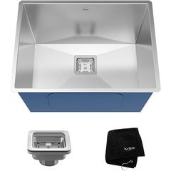"Pax 24"" Undermount Single Bowl Utility Sink Stainless Steel"