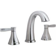 Elysa-V Widespread Bathroom Faucet Solid Brass Push-Pop Drain - Brushed Nickel