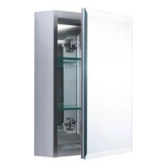 "Dual Mount 20"" X 16"" Beveled Medicine Cabinet - Nickel"