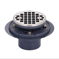 Round Grid Shower Drain - Nickel