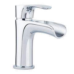Cascade Single Hole Waterfall Bathroom Faucet with Drain Assembly - Chrome