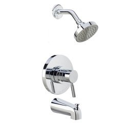 Mia Tub and Shower Trim Package with Single Function Shower - Polished Chrome <small>(#MTS550515SCP)</small>