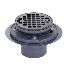 Round Grid Shower Drain - Bronze