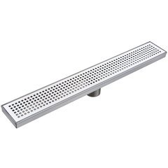 "26"" Pattern Grate Linear Shower Drain with 2"" Outlet - Stainless Steel"