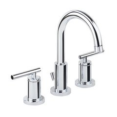 Mia Widespread Bathroom Faucet with Pop-Up Drain Assembly - Chrome