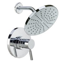 Mia Shower Trim Package with Single Function Rain Shower Head S- Polished Chrome