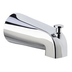 Slip-Fit Tub Spout with Integrated Shower Diverter - Polished Chrome