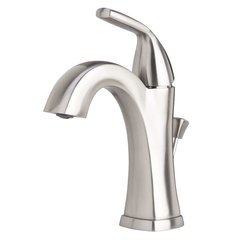Elysa-V Single Hole Bathroom Faucet Solid Brass Pop-Up Drain - Brushed Nickel