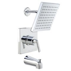 Elysa Tub and Shower Trim Package Single Function Rain Shower - Polished Chrome