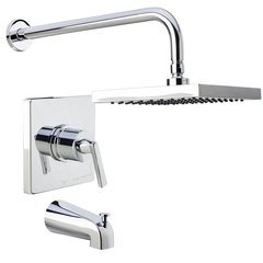 Elysa Tub and Shower Trim Package Single Function Shower - Polished Chrome