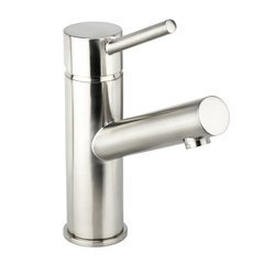 Mia-S Single Hole Bathroom Faucet 50/50 Push-Pop Drain Assembly - Brushed Nickel