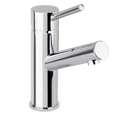 Mia-S Single Hole Bathroom Faucet 50/50 Push-Pop Drain Assembly-Polished Chrome