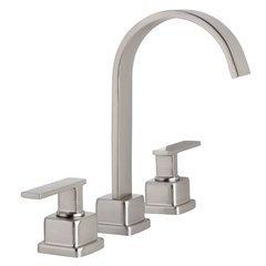 Elysa-R Widespread Bathroom Faucet Solid Brass Push-Pop Drain - Brushed Nickel