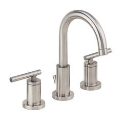 Mia Widespread Bathroom Faucet with Pop-Up Drain Assembly - Nickel <small>(#MML1343BN)</small>