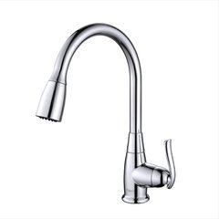 High Arch One Handle Pull-Out Kitchen Faucet Chrome