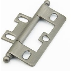 Non-Mortise Hinge with Ball Tips - Antique Nickel