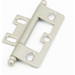 Non-Mortise Hinge with Ball Tips - Distressed Nickel