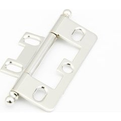 Non-Mortise Hinge with Ball Tips - Polished Nickel