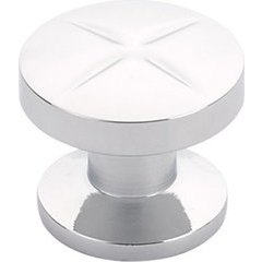 Northport 1-3/8 Inch Diameter Round Polished Chrome Cabinet Knob