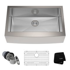 "33"" Farmhouse Single Bowl Kitchen Sink-Stainless Steel"