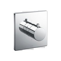 Square Three-Way Diverter Shower Trim With Off - Polished Chrome
