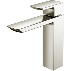 GR 1.2 GPM Single Handle Semi-Vessel Bathroom Sink Faucet with COMFORT GLIDE Technology, Brushed Nickel