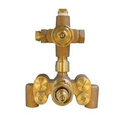Shape Memory Alloy Thermostatic Mixing Valve With Dual Volume Control