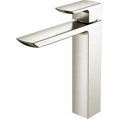 GR 1.2 GPM Single Handle Vessel Bathroom Sink Faucet with COMFORT GLIDE Technology, Brushed Nickel